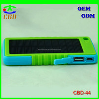 new arrival waterproof solar charger 8000mah solar mobile power bank