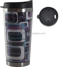 420ml stainless steel coffee cups with remove paper insert, double walled stainless steel paper insert coffee cups
