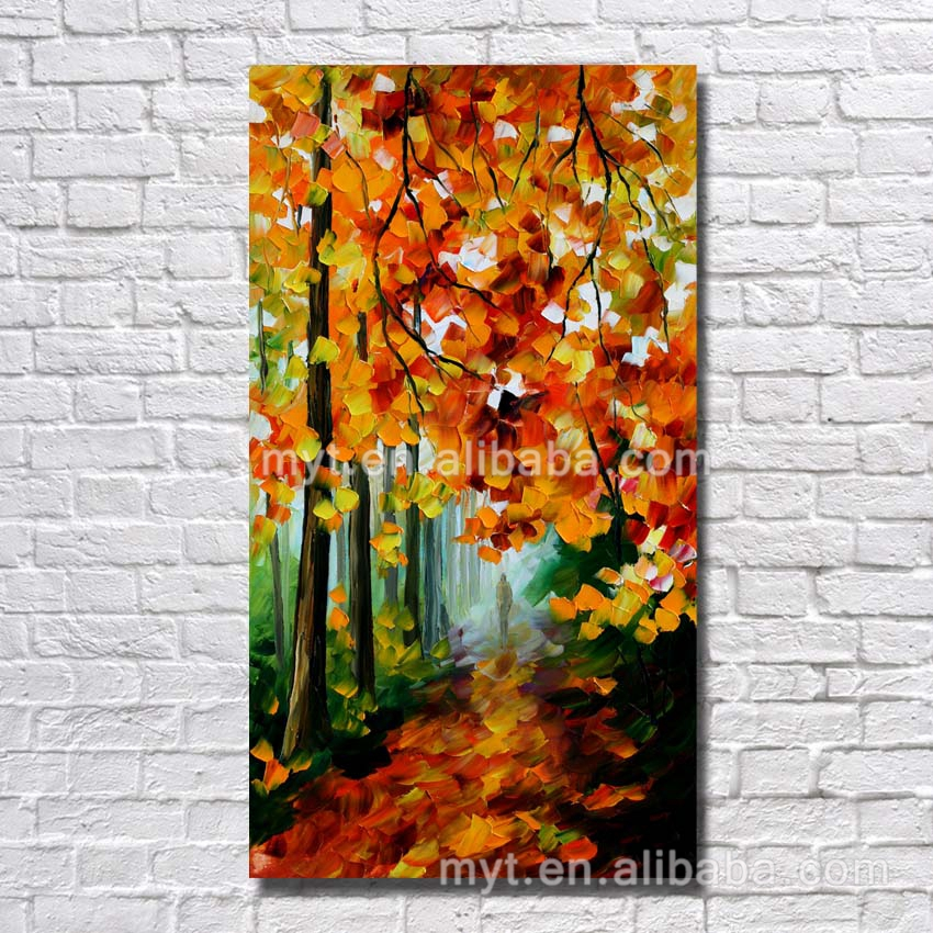 Fir-tree chinese oil painting reproductions ready to hang pictures