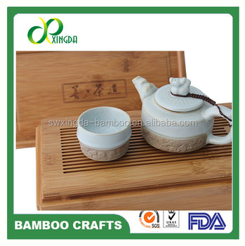 factory direct hot sale 2017 spring design bamboo travel tea box