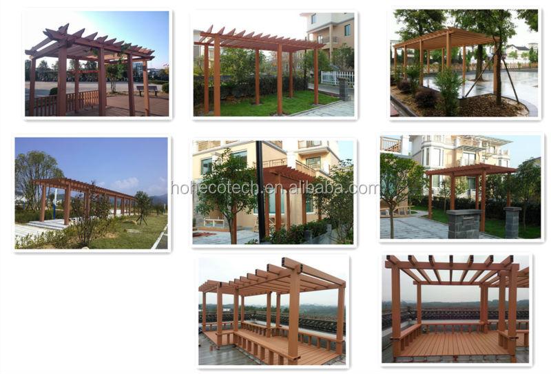 Modern wood plastic composite garden pergola buy wood - Gazebos de madera ...