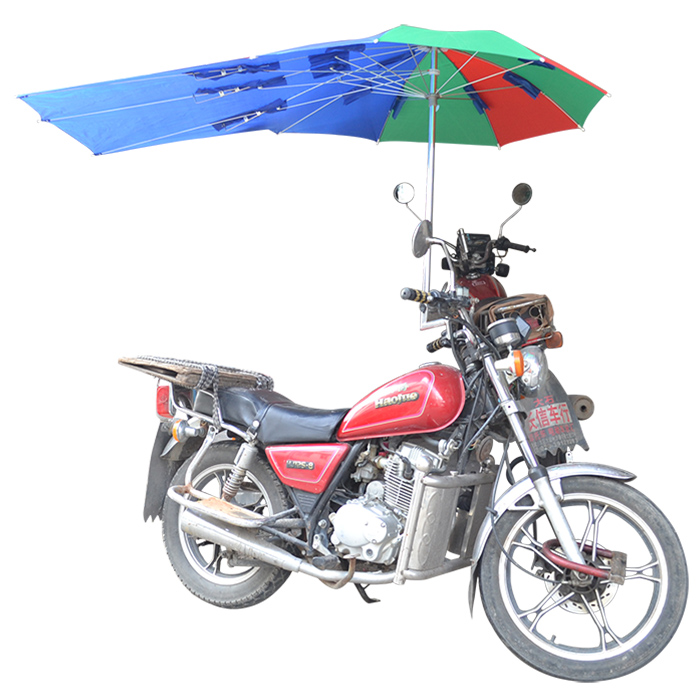 China luxury metal wind and rain motorcycle umbrella