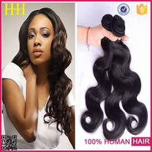 100% virgin human hair in haohao hair company qingdao golden leaf hair alibaba