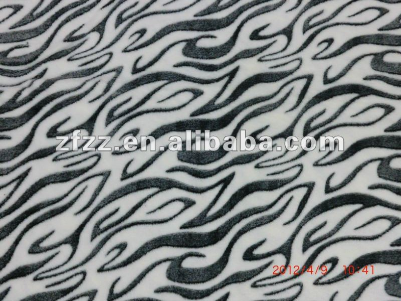micro fleece fabric with burnout finishing