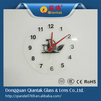 Customized Decorative Tempered Glass Wall Clock Panel