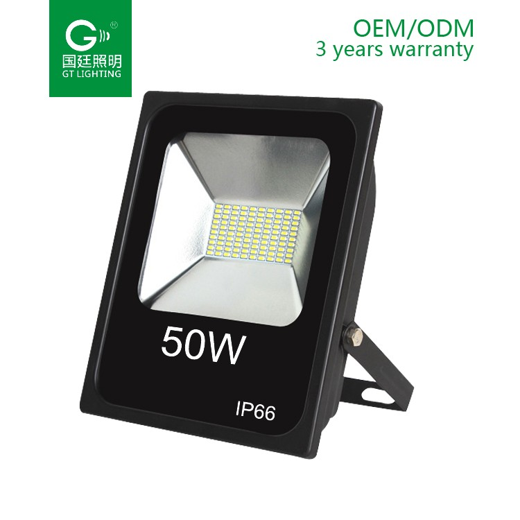 Alibaba hot sale Outdoor epistar ip65 led flood light high lumen 10W 20W 30W 100W 50w 12 volt led flood light 3 years warranty
