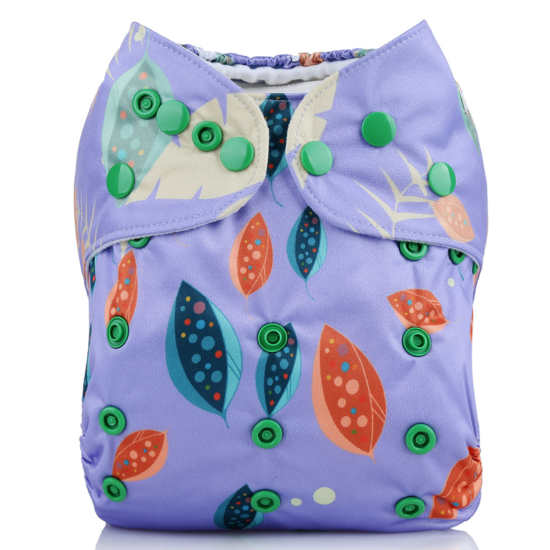 Washable pul waterproof double gussets position print cloth Diapers for baby