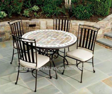 Patio Cafe Outdoor Dining Furniture Sets Wrought Iron Round Table And 4 Chairs