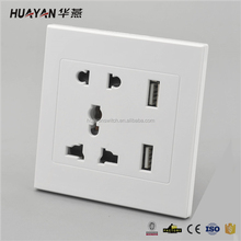 Factory Directly Multi-Function Waterproof Usb Wall Socket Outlet With Switch