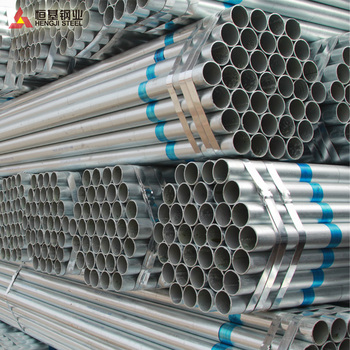 1.5' scaffolding galvanzied steel pipe with threaded one side another plastic cap and pvc packing