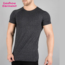 slim fit gym wear men plain t shirt wholesale blank fitted t-shirt in china