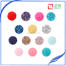 12mm flat back resin 50pcs/lot electroplated druzy cabochons wholesale