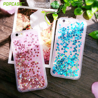 Factory price beautiful transparent tpu colorful quick sand case for Iphone6