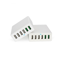 Qualcomm 3.0 quick charge 6 port multi travel charger