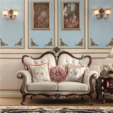 Exclusive Royal Victorian Three Seat Leather Sofa, Luxury English Style Living Room Furniture