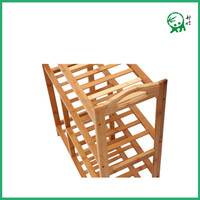 Durable Modeling Popular Eco-friendly Bamboo 4 layers Shoe Rack