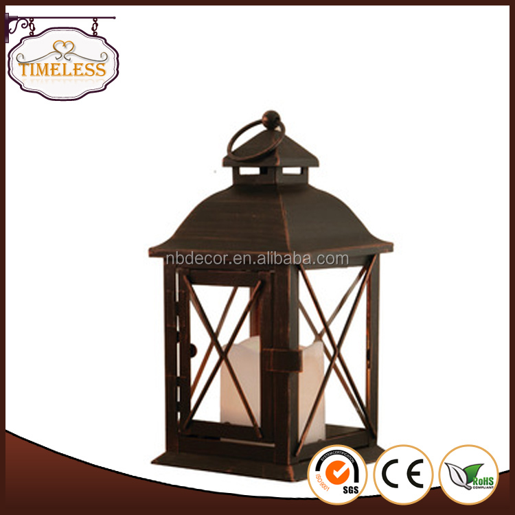 Wholesale Metal Lantern With LED Candle