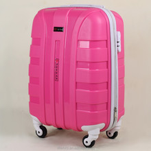 vip charlie sport pink pp luggage with stickers