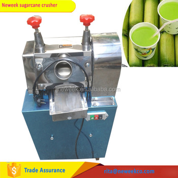 Neweek high capacity commercial electric sugarcane juice extractor