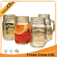 mason Jar colored sublimation glass beer mug