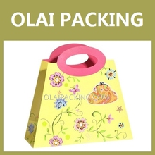Wholesale carrier bag,gift paper bag,special gold cute paper bag