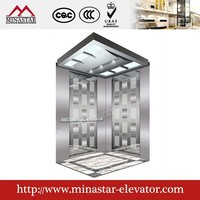 cheap good quality lifts and elevators hairline etching residental passenger lift type invalid passenger lift