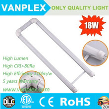 AC100-277V U bend LED Tube Light 18W 2 feet 600mm U shape t8 tube