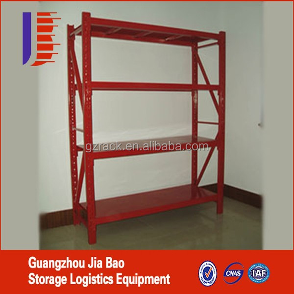 Slotted Angle Shelving with Light Duty Racking and Steel Panel, Suitable for Electron
