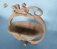 Beautiful design fruits and vegetables collapsible bamboo basket