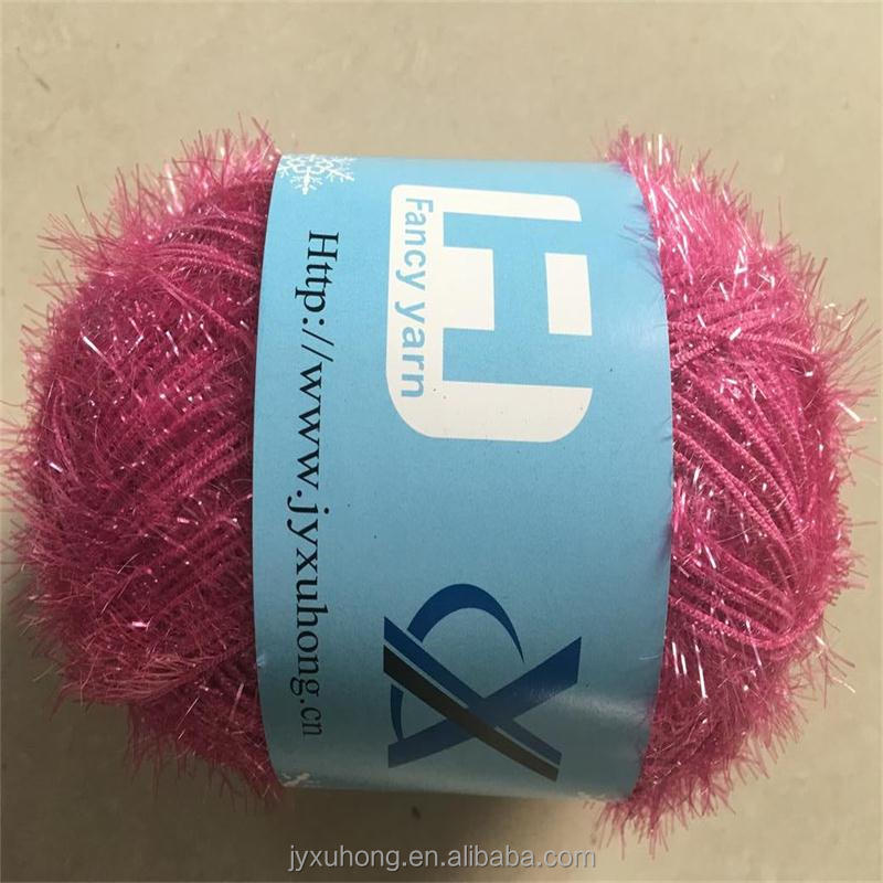 polyester lurex feather yarn for knitting