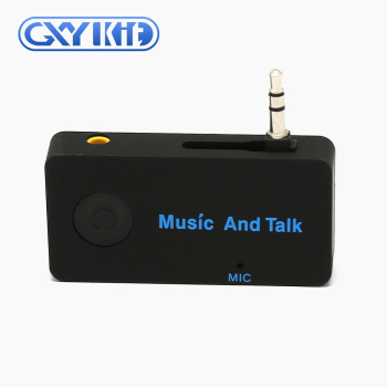 GXYKIT BT music receiver with 3.5mm aux jack for BT handsfree car kit