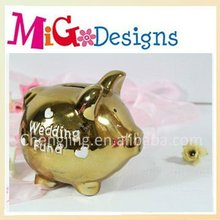 Gold Ceramic Large Piggy Banks For Kids