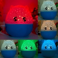 Christmas gift 2017 Auto Rotating Star Projector bluetooth speaker Lamp LED starlight Night Light loves sleep lamp desk lamp