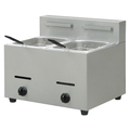 Double Tanks Counter Top Stainless Steel Commercial Gas Potato Chips Fryer