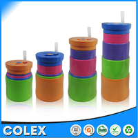 easy carrying heat resistance plastic cup for retailing