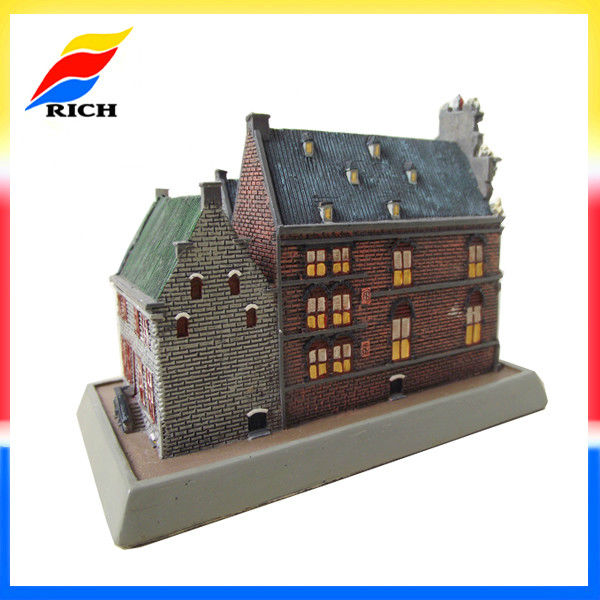 custom innovative souvenirs 3d building models of houses polyresin miniature building replicas