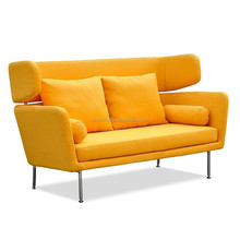 European style sofa/sofa bed chesterfield sofa lounge sofa/fabric sofa with wood leg