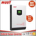 High Frequency 3kva 24v solar micro inverter with 60A MPPT controller