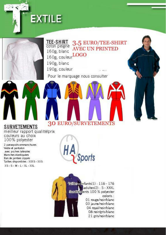T-shirts/ Track suits