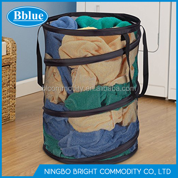 laundry hamper mesh laundry bag pop up laundry bag