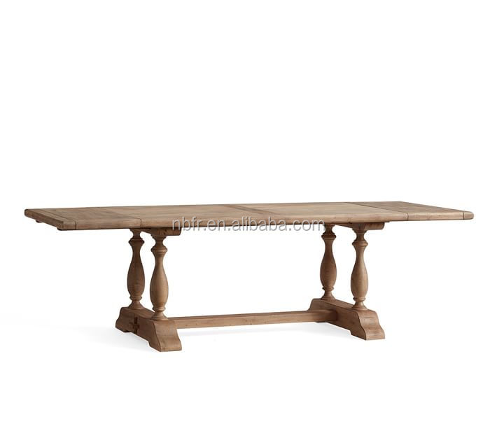 FuRui hot sale high quality solid oak wood rectangle dining table extending table