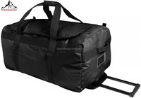 Fashion Large compartment wheels tarpaulin travel bag ,rolling duffel bag
