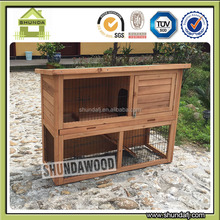 SDR001L-T wholesale double decker metal try rabbit hutch designs