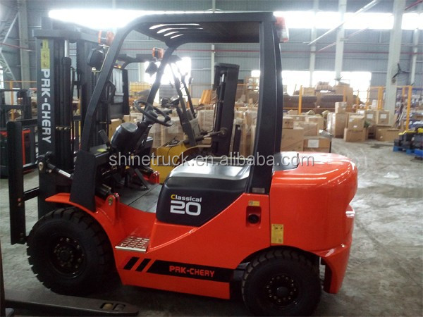 2 ton diesel fork lifter/paper roll clamp forklift