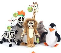 2015 Hot Sale Madagascar Plush Toys Madagascar Lion Giraffe Penguin Zebra Hippo Cute Gift for Kids Boys Super Quality