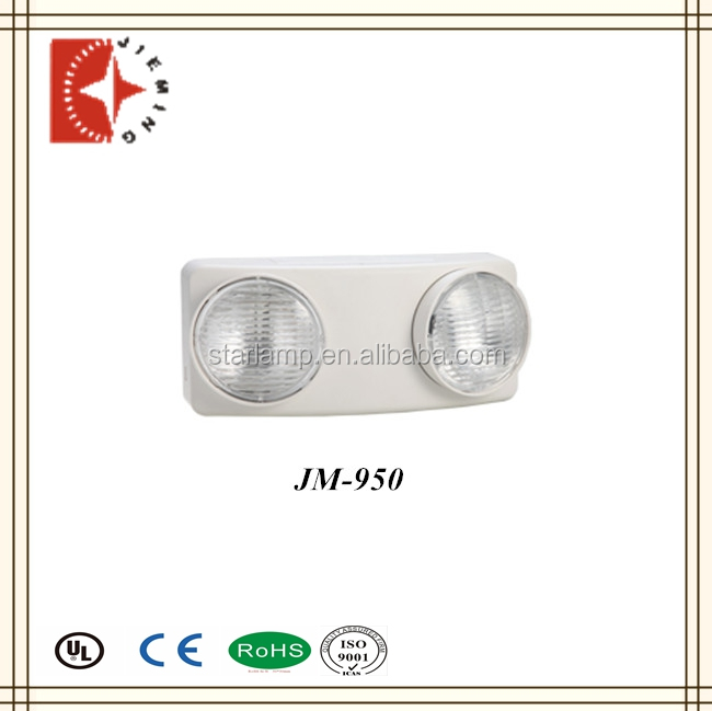 2*5.4w double twin heads emergency lamps white color rectangular fixed on wall and ceiling cool white light beam