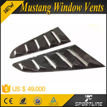 Carbon Fiber Auto Car Rear Side Window Vent Trims for Ford Mustandg Coupe 15-16