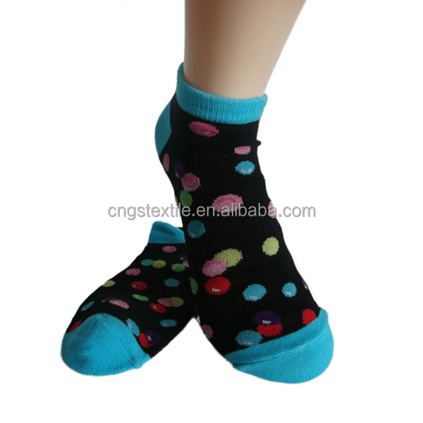 Haining GS custom candy design light blue toe and heel mismatch 3 pack cotton ladies women ankle socks