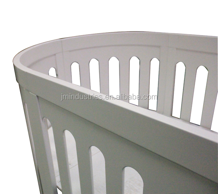 Fashion Model 5 in 1 Wooden Round Baby Cot Baby Crib