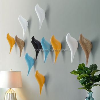 Home Decorative Bird Poly Resin Wall Hooks and Hangers